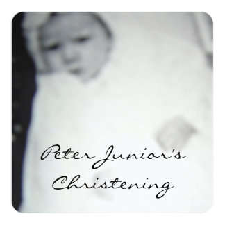 Christening (Vintage) Invitation