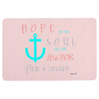 Christian Bible Verse Hope for the Soul Floor Mat