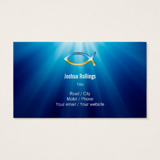 Christian - Blue Business Card
