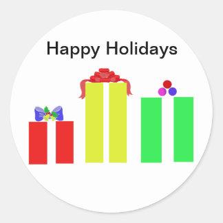 christian christmas cards round sticker
