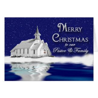 CHRISTIAN CHRISTMAS GREETING - CHURCH/SNOW SCENE CARDS