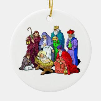 Christian Christmas Nativity Scene Holy Family Christmas Ornament