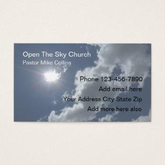 Christian Church Pastor Sky Sun Business Card