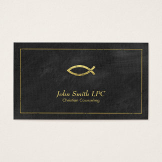 Christian Counselor Ichthus Appointment - Black Business Card
