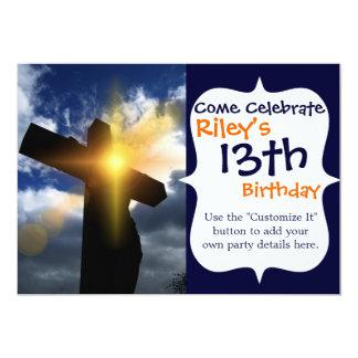 Christian Cross at Easter Sunrise Service 13 Cm X 18 Cm Invitation Card