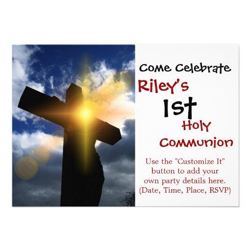 Christian Cross at Easter Sunrise Service Invite