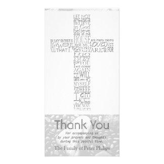Christian Cross John 14:02 - Sympathy Thank You 3 Photo Card