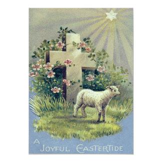 Christian Cross Lamb Star 13 Cm X 18 Cm Invitation Card
