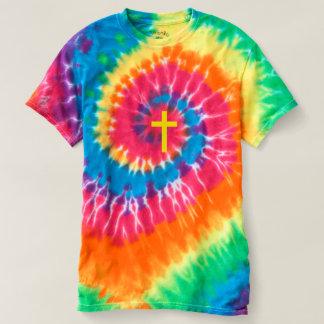 """""""CHRISTIAN CROSS"""" TIE-DYE SPIRAL T-Shirt"""