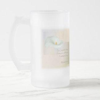 Christian Faith Art ~ Romans 12:12 Frosted Glass Beer Mug