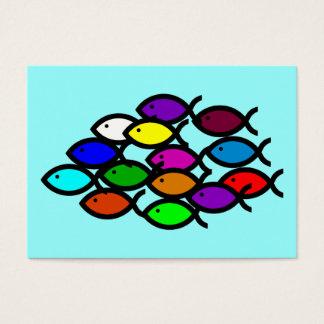 Christian Fish Symbols - Rainbow School - Business Card