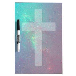 christian galaxy dry erase board