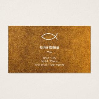 Christian - Gold Business Card