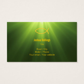 Christian - Green Business Card
