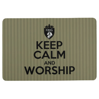 Christian King of Kings KEEP CALM AND WORSHIP Floor Mat