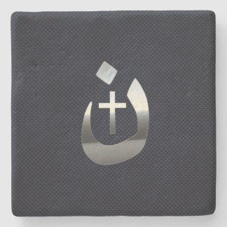 Christian Nazarene Solidarity on Carbon Stone Coaster