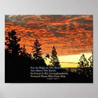 Christian Poster Bible Verse Scripture Creationart