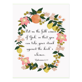 Christian Quote Art - Ephesians 6:11 Postcard