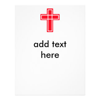 Christian red and white cross flyers for your text