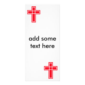 Christian red and white cross rack cards