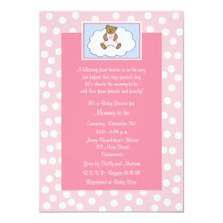 Christian Religious Baby Shower Invitation Pink