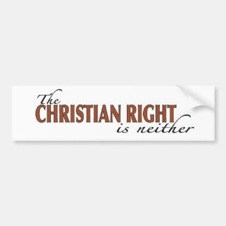Christian Right Bumper Sticker