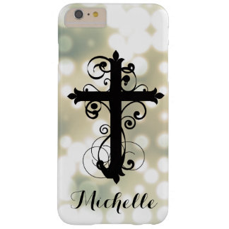 Christian Swirling Cross Custom iPhone Case