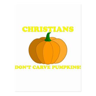 Christians Don't Carve Pumpkins Postcard