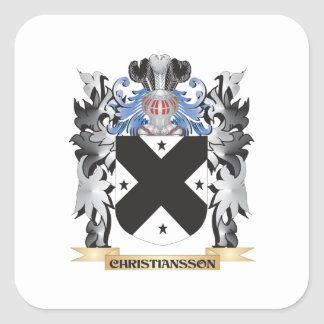 Christiansson Coat of Arms - Family Crest Square Sticker