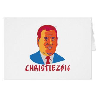 Christie 2016 President Retro Card