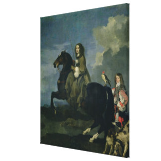 Christina of Sweden (1626-89) on Horseback, 1653 ( Canvas Print