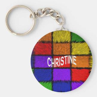 CHRISTINE KEY RING