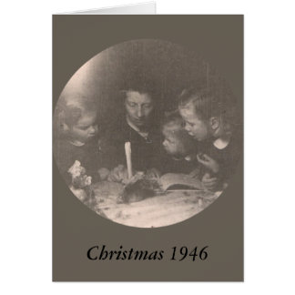 Christmas 1946 note card