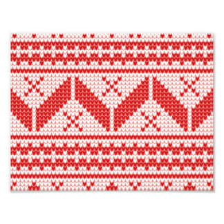 Christmas Abstract Jumper Knit Pattern Photo Print