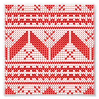 Christmas Abstract Jumper Knit Pattern Photographic Print