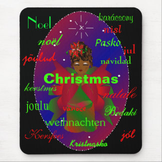 Christmas Angel From Around The World Mousepad Mouse Pad