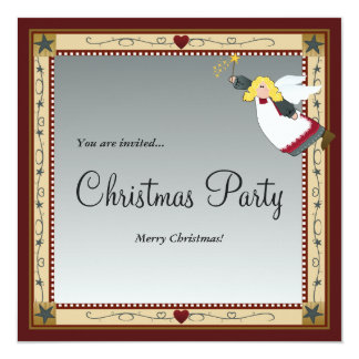 Christmas Angel Invitations