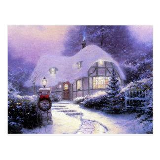 Christmas anime postcard