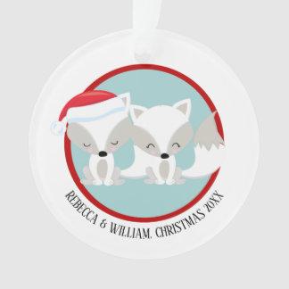 Christmas Arctic Fox Personalized Photo Ornament