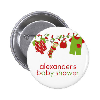 Christmas Baby Laundry Boy Baby Shower Button