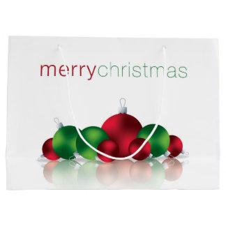 Christmas bauble large gift bag