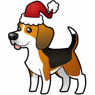 Christmas Beagle Ornament Photo Sculpture Decoration