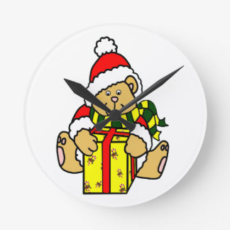 Christmas Bear Clock