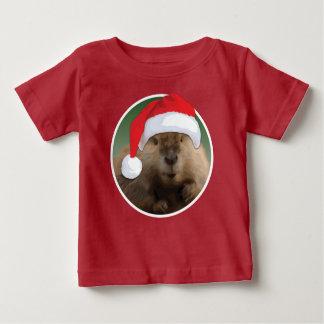 Christmas Beaver - Baby Fine Jersey T-Shirt