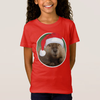Christmas Beaver - Girls' Bella+Canvas T-Shirt