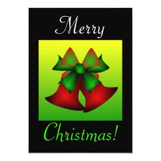 Christmas Bells 13 Cm X 18 Cm Invitation Card