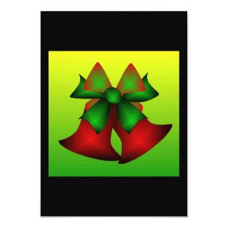 Christmas Bells 5x7 Paper Invitation Card