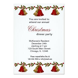 Christmas Bells dinner Card