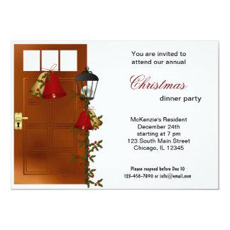 Christmas Bells dinner 5x7 Paper Invitation Card