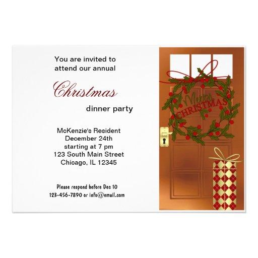 Christmas Bells dinner Invitations